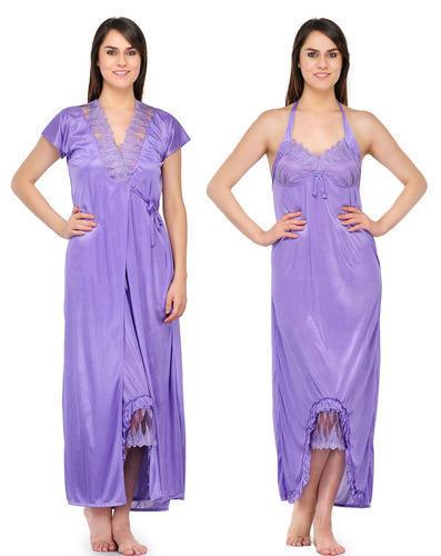 Ladies Nighty - Ladies Three Piece Fancy Nighty Manufacturer from Mumbai 2b4f938b7
