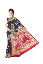 Kasab And Aabhla Work Design Gaji Silk Bandhani Saree