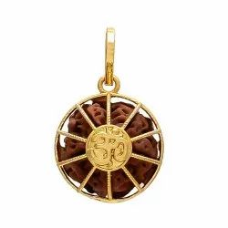 Designer Rhodium Gold Plated Pendant