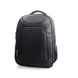 Onego Black Leather Laptop Backpack, Capacity: 25 Liter