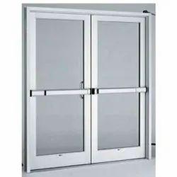 Powder Coated Aluminum Swing Door, Thickness: 20-55 mm
