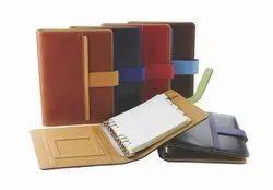 Synthetic Pu Leather Metal Ring Binding Diary Corporate Premium Organizer