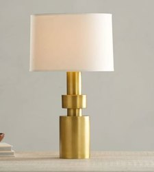 K&T Table Lamps Brass Lamp, For Decor