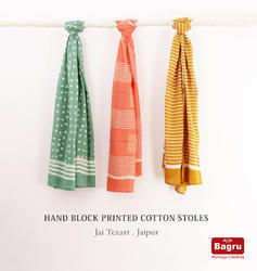 Block Printed Cotton Stoles