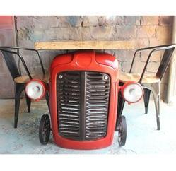 30 Kg Approx Optional Tractor Shape Vintage Automobile Furniture Dining Table
