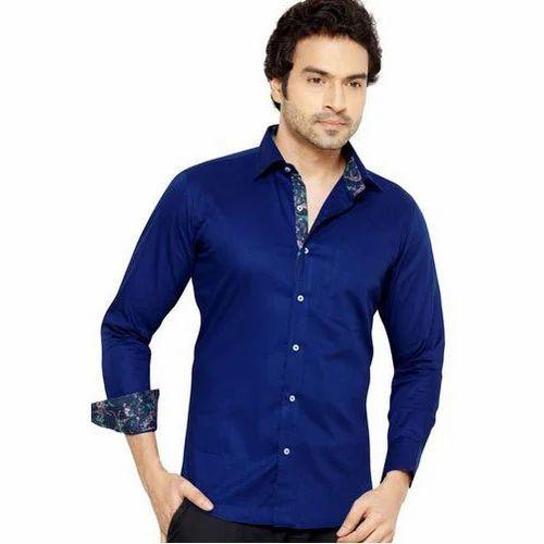 c455f8a15566 Blue Cotton Men''s Slim Fit Formal Shirt, Rs 180 /piece, Abhay ...