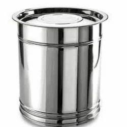 Silver Stainless Steel Kitchen Drum