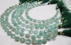 Natural Amazonite Heart Shape Beads Briolette Beads Size 8mm Strand 8 Inches.