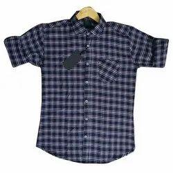 Regular Wear Checks Men Stylish Check Cotton Shirt, Handwash, Size: S To Xxl