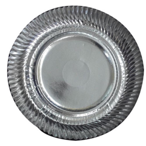 Silver Paper Plate At Rs 0 35 Piece Silver Foil Paper Plates Id