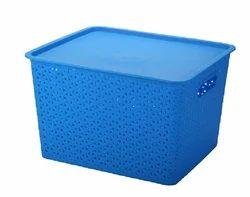 Big Plastic Storage Basket With Lid