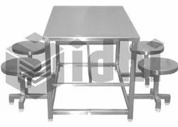 Silver Color SS Cafeteria Table
