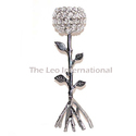 Tree Branch Shape Metal Candle Holder With Crystal Votive