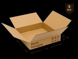 Corrugated Box - 5 Ply (7L x 5.5B x 2.75H Inch)