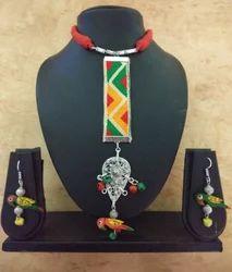 German Silver Pendant Fabric Jewellery