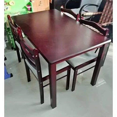 28 32 Inch Rectangular 4 Seater Dining Table Set For Home Size 120 Cm X 74 5 Cm Rs 35000 Set Id 21539668855