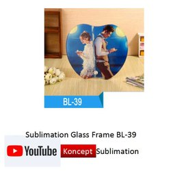 Sublimation Glass Frame BL 39