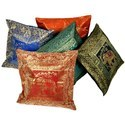 Banarasi Brocade Work Silk Cushion Covers