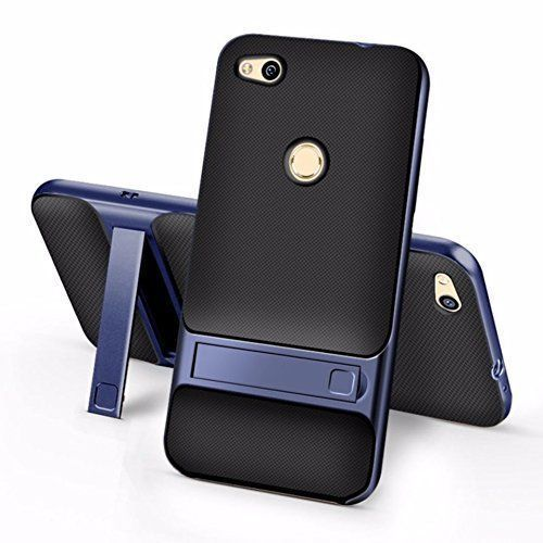 best service c8b1b 91acc Dual Hybrid Back Cover With Stand Case For Honor 8 Lite