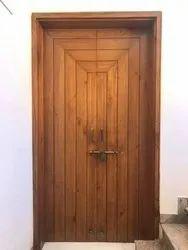 Solid Exterior Wooden Main Door Design For Home