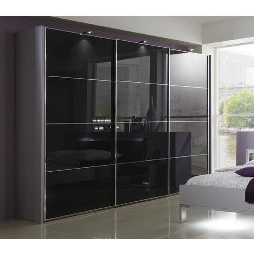 Maxx Black Glass Wardrobe Rs 1500 Square Feet Artures
