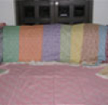 Multi Color Printed Bed Set Fabric Silk Textile