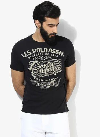 b0e4e980f U S Polo Assn Black Printed Regular Fit Round Neck T Shirt - Jade ...