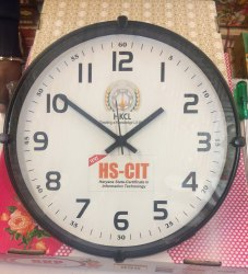 Round Black Frame Promotional Clock