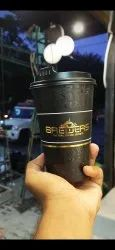 black printed coffee cups, Packet Size: 1000 Pieces, Size: 250 Ml