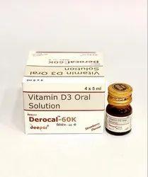 DEROCAL 60K Solution Vit D3 60000 IU, Cholecalciferol
