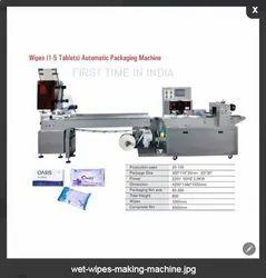 Wet wipe sanitize tissue making machine