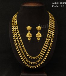 Traditional Antique 3 Layers Necklace Set