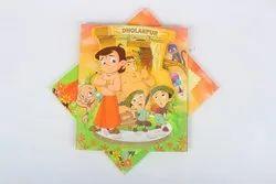 Chota Bheem Kids Birthday Invitation Card, 1 Leaflet
