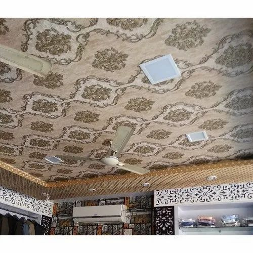 Pvc Bedroom Ceiling Wallpaper For Home Hotel Rs 45 Square Feet M S Shivam Decors Id 21392761155