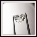 Heart Shape Diamond 0.72ct E VS1 Lab Grown HPHT Stone Fancy Cut for Ring