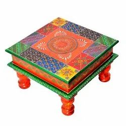 Wooden Handmade Chowki Bajot Stool Return Gift
