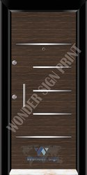 Brown Membrane Digital Door Skin
