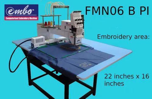 Single Head Six Needle Computerized Embroidery Machine