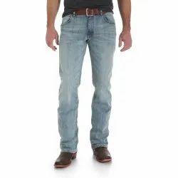 Blue Lycra Mens Slim Fit Jean