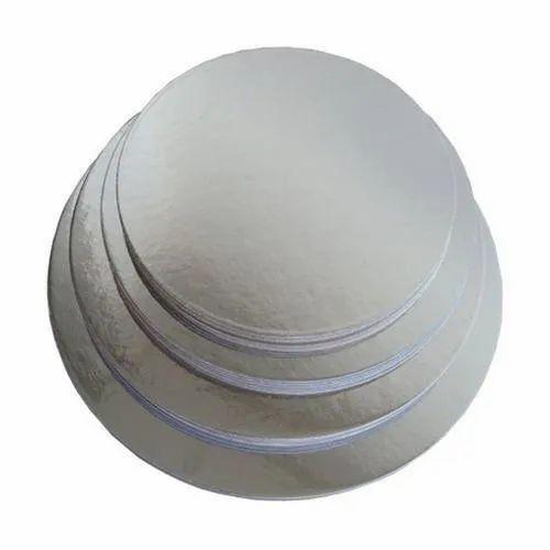 6 Inch Silver Round Cake Base Board