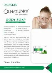 OLNATURES ALOEVERA Body Soap, 75gm, Packaging Type: With Box