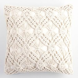 Natural Fabric Macrame Cushion Cover