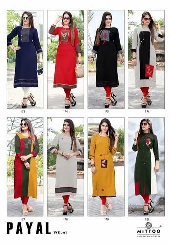 70686b4415 Rayon Casual Wear Mittoo Payal Vol 7, Rs 1 /set, Adokey Services OPC ...