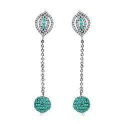 Turquoise Ball Earrings