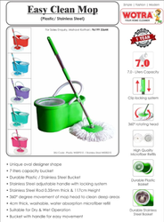 Iron Blue Plastic Mop, Size: 7 Lits