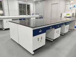 Laboratory Island Table C Frame Model