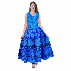 Cotton Jaipuri Print Maxi Dress