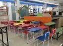 colorfull classroom desk