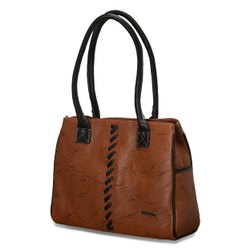 Modern Brown Ladies Designer Leather Handbag