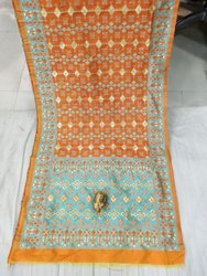 Flower Design Banarasi Silk Duppata